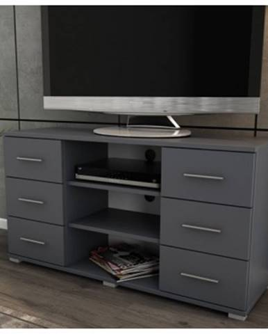 Vysoký TV stolík Oskar TV, grafitový, výška 65 cm%