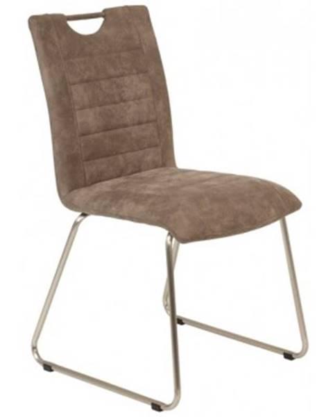 ASKO - NÁBYTOK Jedálenská stolička Aruba 6, blatistá vintage látka%