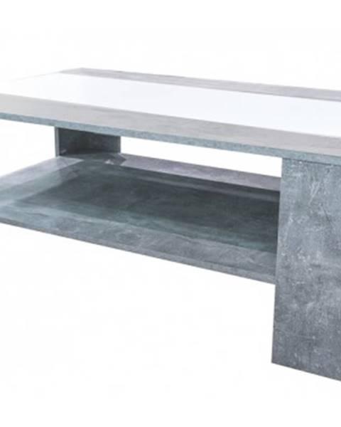 ASKO - NÁBYTOK Konferenčný stolík AS-56, beton/biela%