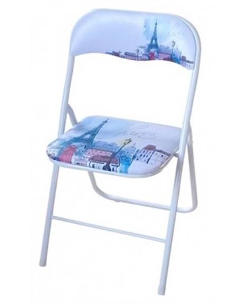 ASKO - NÁBYTOK Skladacia stolička Jamos, motiv Paríža%