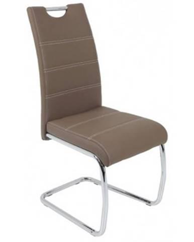 Jedálenská stolička Flora, latté ekokoža%