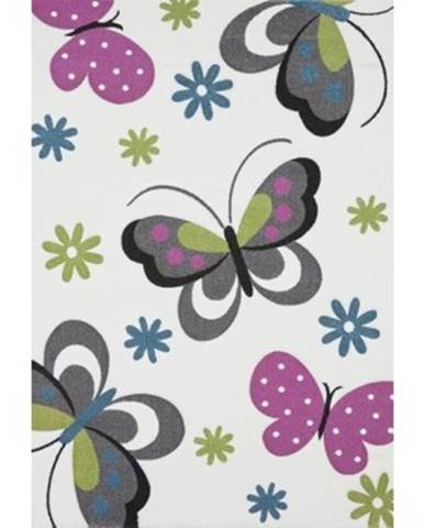 Koberec Diamond 120x170 cm, motív motýľov , krémový%