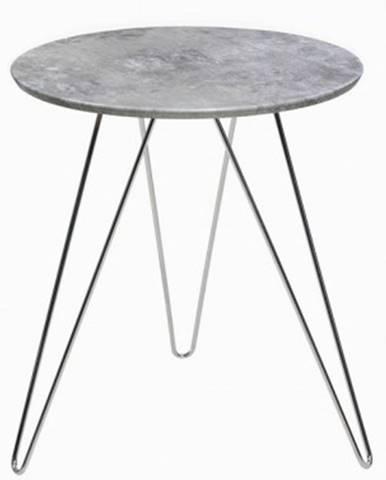 Odkládací stolík Hamilton, šedý beton%