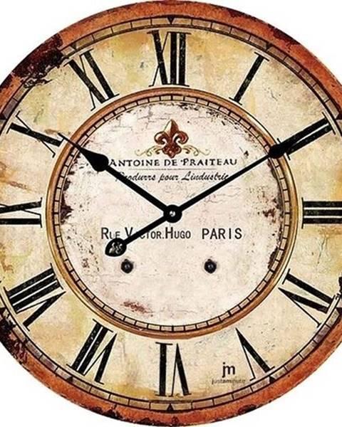 Lowell Lowell 14862 Dizajnové nástenné hodiny pr. 34 cm