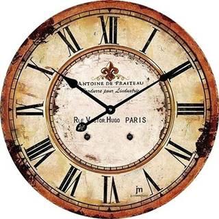 Lowell 14862 Dizajnové nástenné hodiny pr. 34 cm
