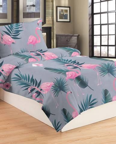 Jahu Obliečky mikroplyš Flamingo grey, 140 x 200 cm, 70 x 90 cm