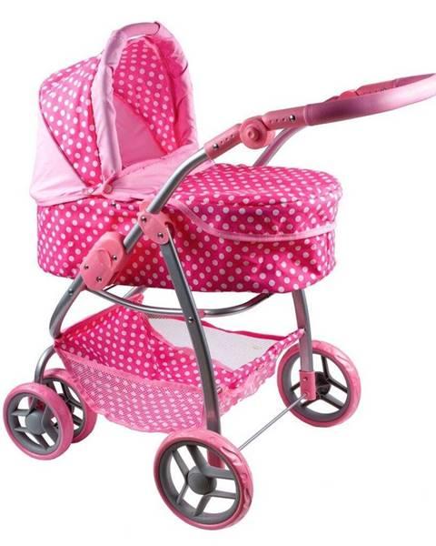 Kvalitex PlayTo Multifunkčný kočík pre bábiky Jasmínka svetlo ružový