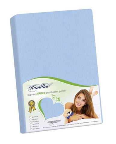 Bellatex Jersey prestieradlo Kamilka svetlo modrá, 120 x 200 cm