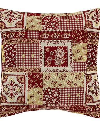 Boma Trading Obliečka na vankúšik Gobelín červená, 45 x 45 cm