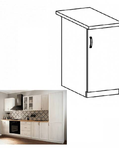 Kondela Dolná skrinka D30 pravá biela/sosna Andersen SICILIA