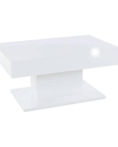 Konferenčný stôl s úložným priestorom biela vysoký lesk DIKARO