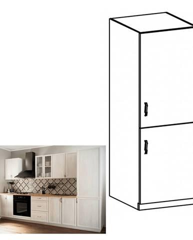 Kuchynská skrinka na vstavanú chladničku D60ZL pravá biela/sosna Andersen SICILIA