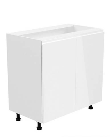 Spodná skrinka biela/biela extra vysoký lesk AURORA D80