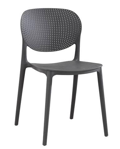 Stohovateľná stolička tmavosivá FEDRA