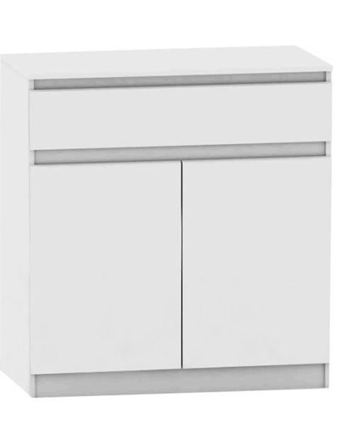Tempo Kondela 2 dverová komoda s jedným šuplíkom biela HANY NEW 007