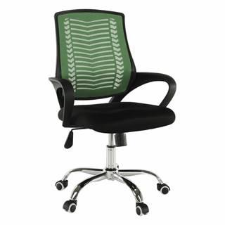 Kancelárske kreslo zelená/čierna/chróm IMELA TYP 2 poškodený tovar