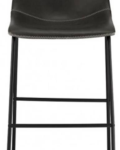 Barová stolička Guaro sivá, čierna