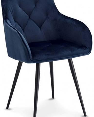 Jedálenská stolička Fergo modrá, čierna