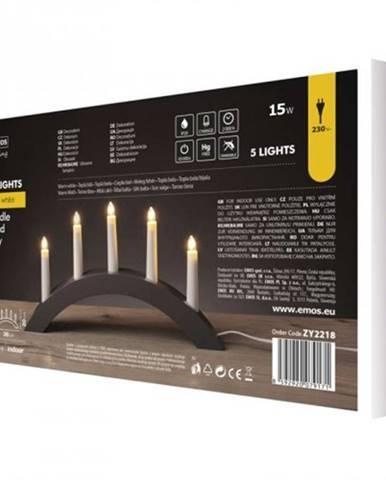 Vianočné osvetlenie Emos ZY2218, šedý drevený oblúk, 40x28 cm