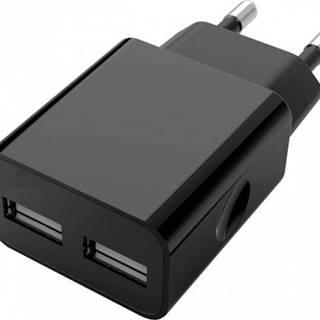 Nabíjačka WG 2xUSB 2,4A + kábel Lightning PFI, čierna