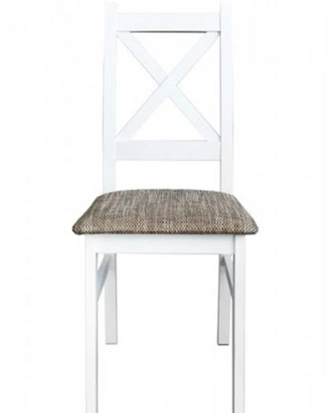 OKAY nábytok Jedálenská stolička Kasper biela, sivá