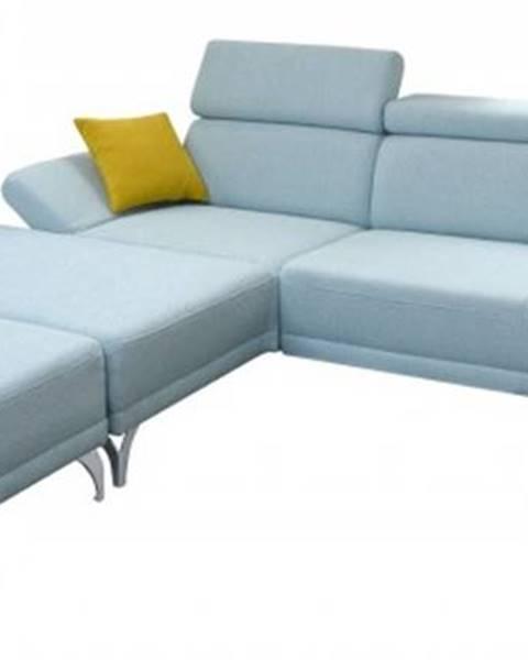 OKAY nábytok Rohová sedačka Soni s taburetkou ľavý roh