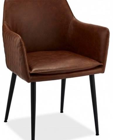 Jedálenská stolička Monda hnedá, čierna