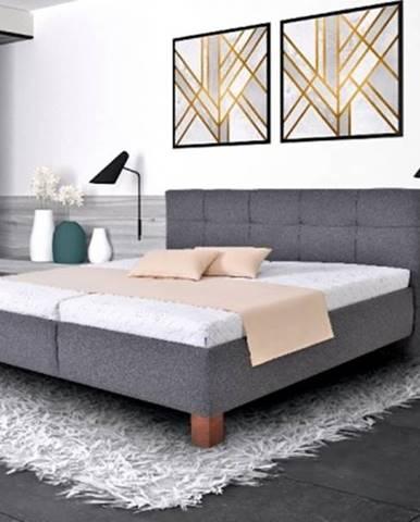 Čalúnená posteľ Mary 160x200 vr. matraca, pol. roštu a ÚP
