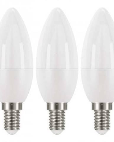LED žiarovka Emos ZQ32203, E14, 6W, sviečka, teplá biela, 3ks