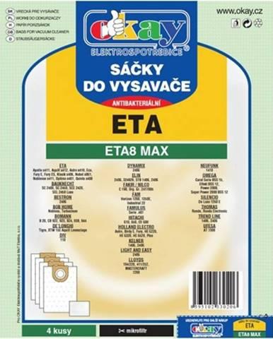 Vrecká do vysávača Eta ETA 8 MAX, antibakteriálne, 8ks