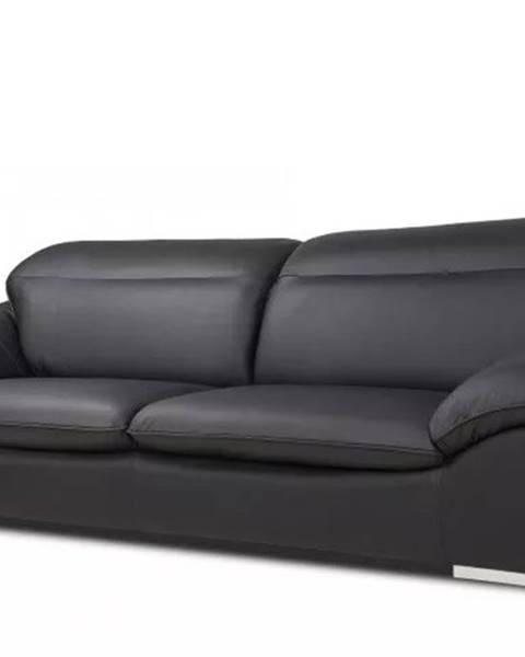OKAY nábytok Kožená dvojsedačka Teresa čierna
