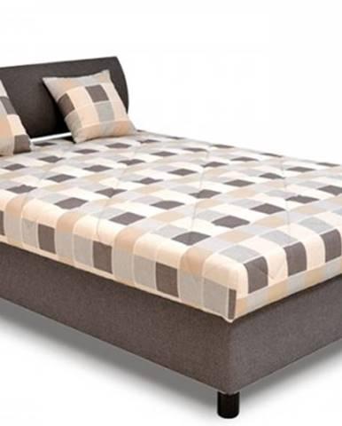 Čalúnená posteľ George 140x200, hnedá, vrátane matracov a úp