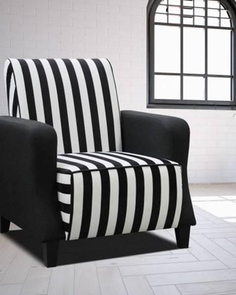 OKAY nábytok Moderné kreslo Barutti biela, čierna