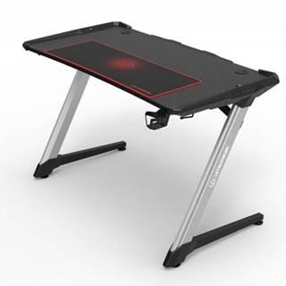 Herný stôl ULTRADESK RACER UDESK-RA-BK + ZDARMA podložka pod myš a hub