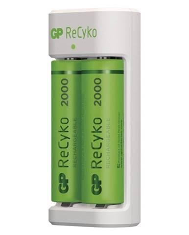 Nabíjačka batérií GP B51214 Eco E211 + 2xAA ReCyko