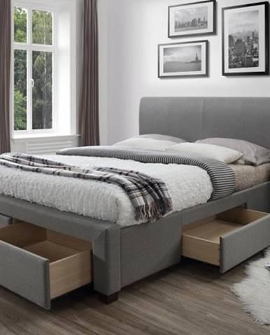 Čalúnená posteľ Marion 160x200, vrátane roštu a úp, bez matracov