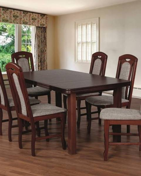 OKAY nábytok Jedálenský set 18 - Stôl 160x90,6x stolička