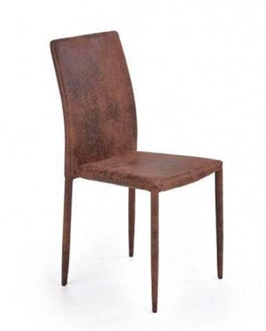 Jedálenská stolička Saiza hnedá