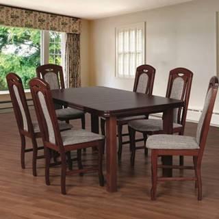 Jedálenský set 18 - Stôl 160x90,6x stolička
