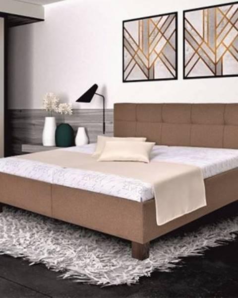 OKAY nábytok Čalúnená posteľ Mary 180x200, vr. matraca, pol. roštu a ÚP