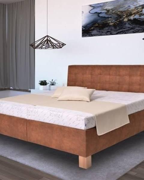 OKAY nábytok Čalúnená posteľ Victoria 180x200, vr. matraca, pol. roštu a ÚP
