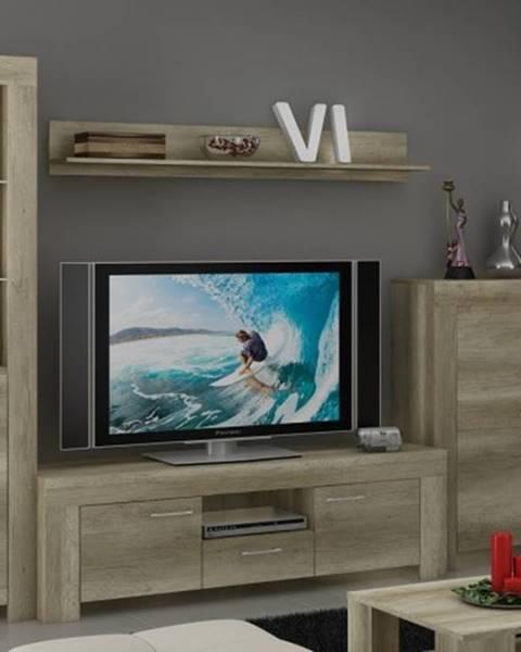 OKAY nábytok Sky - Obývacia stena, komoda, RTV stolík, svetlo