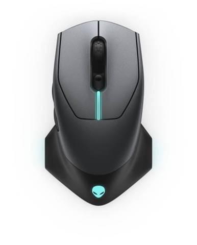 Bezdrôtová myš DELL Alienware AW610M, herná, 7 tlačidiel, čierna + Zdarma podložka Olpran