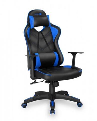 Herná stolička Connect IT LeMans Pro čierna/modrá - CGC-0700-BL