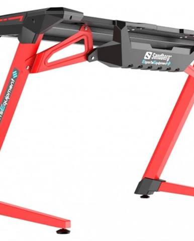 Herný stôl Sandberg Fighter v2 čierna/červená 640-92 + ZDARMA podložka pod myš a hub