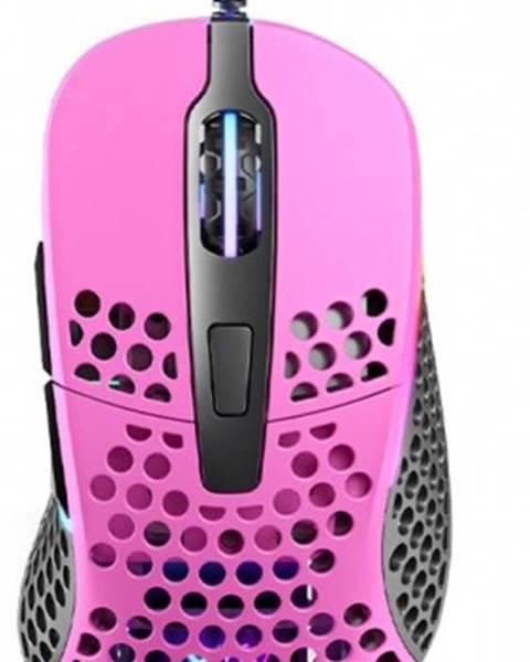 XTRFY Herná myš Xtrfy M4 RGB, 16 000 dpi, ružová