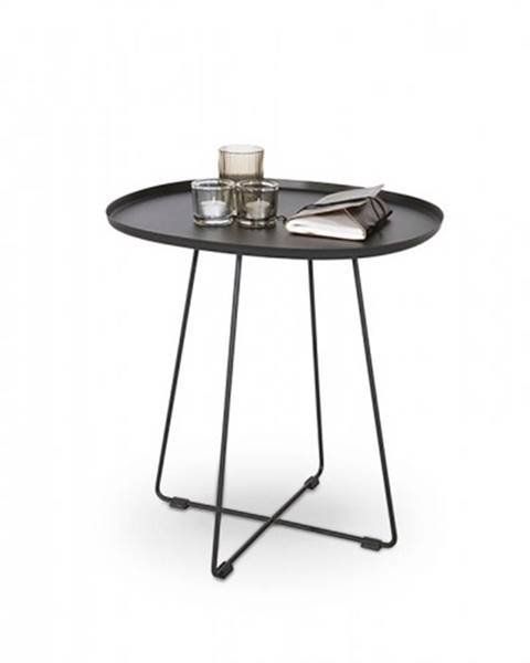 OKAY nábytok Tina - Konferenčný stolík ocelový čierny