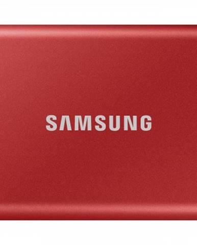 Externý SSD disk Samsung - 500 GB - červený