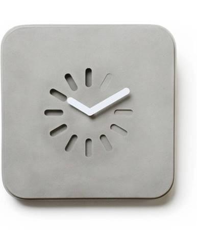 Betónové nástenné hodiny Lyon Béton Life In Progress