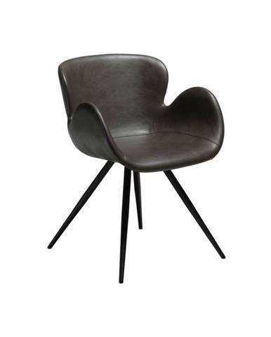 Sivá koženková stolička DAN-FORM Denmark Gaia